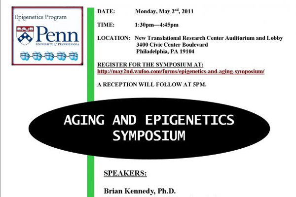 Epigenetics and Aging Symposium